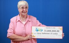 Maria Stuhlemmer of London won the Lotto Max MaxMillions prize in the September 2, 2016 draw. Photo courtesy of OLG.