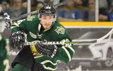 Victor Mete of the London Knights. (Photo courtesy of Terry Wilson / OHL Images)