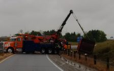A Truck Crash On Hwy 402 At Centre Rd. Sept 30/16 (Photo Courtesy of OPP)