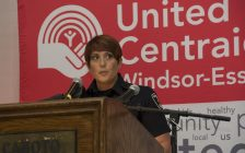 Constable Cealia Gagnon speaks at the Caboto Club in Windsor during the 2016 United Way Kickoff, September 30, 2016. (Photo courtesy of United Way/Centraide Windsor-Essex County)