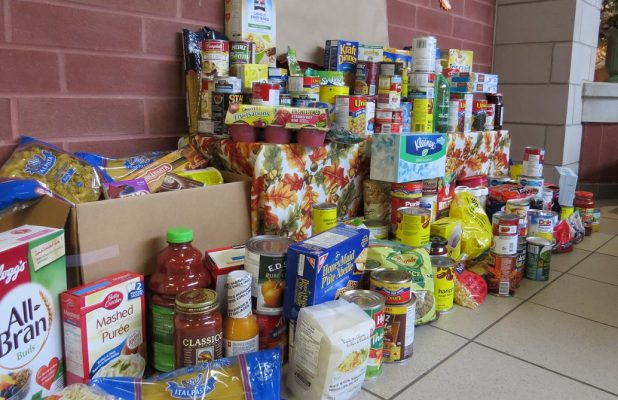 Food donations collected for the Food Bank. (Photo by Miranda Chant, Blackburn News)