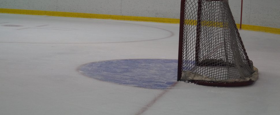 Hockey net. Photo by Jake Jeffrey