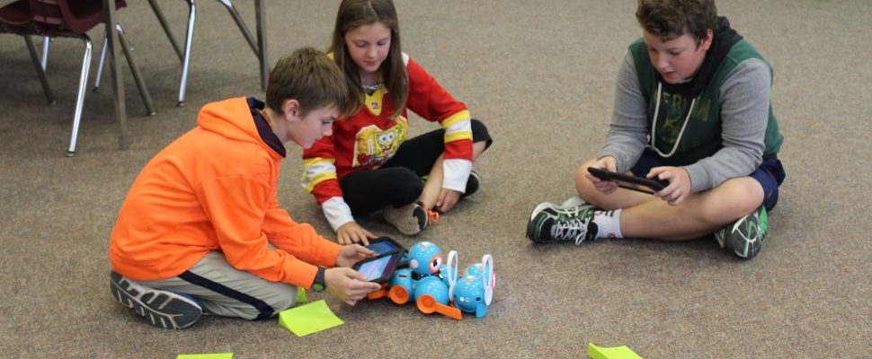 At Ridegtown District High School where the coding club shows off their skills by operating robots with their tablets. October 12, 2016. (Photo by Natalia Vega)