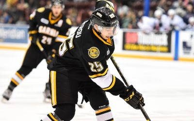 Jordan Kyrou of the Sarnia Sting. Photo by Aaron Bell/OHL Images