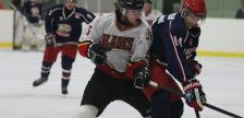 Petrolia Flyers battle Blenheim at the Greenwood Rec Centre. (Photo by Dawn Riley)
