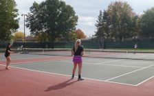SWOSSA Tennis action from the Sarnia Tennis Club. Oct. 18, 2016 (photo by Jake Jeffrey)