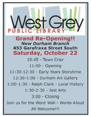 Durham's Library Re-opens Saturday