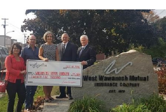 West Wawanosh Mutual Donates To Wingham And District Hospital