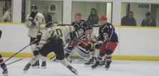 The Wallaceburg Lakers play the Petrolia Flyers on Oct. 23, 2016. (Photo courtesy of Jocelyn McLaughin)