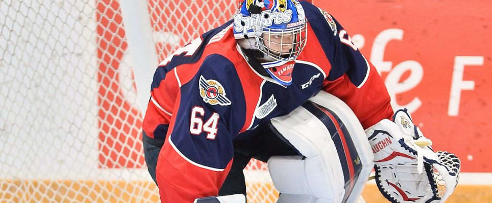 Michael DiPietro of the Windsor Spitfires. (Photo courtesy of Terry Wilson via OHL Images)
