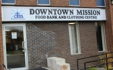 Downtown Mission Food Bank and Clothing Centre at 875 Ouellette Ave. November 25, 2016. (Photo by Maureen Revait)
