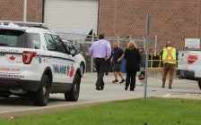 Police investigate a reported industrial accident at Ventra Plastics in Windsor on November 3, 2016. (Photo by Ricardo Veneza)