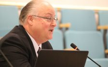 CEO of the Windsor-Essex Economic Development Corporation, Stephen MacKenzie, attends the regular meeting of council for the Town of Essex on November 21, 2016. (Photo by Ricardo Veneza)