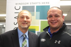 True Fitness owner Luis Mendez (right) alongside chair of the Downtown Windsor Business Improvement Association Larry Horwitz seen together on November 25, 2016. (Photo by Ricardo Veneza)