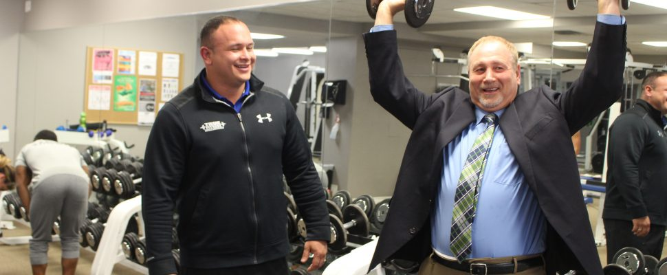 True Fitness owner Luis Mendez (left) alongside chair of the Downtown Windsor Business Improvement Association Larry Horwitz seen together on November 25, 2016. (Photo by Ricardo Veneza)