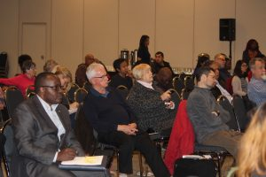 Close to 100 people attend the Anti-Racism Directorate meeting in Windsor on November 28, 2016. (Photo by Ricardo Veneza)
