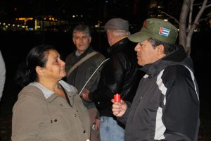 A vigil is held in Windsor along the waterfront on November 29, 2016 in honour of Cuban leader Fidel Castro after his death on November 25. (Photo by Ricardo Veneza)