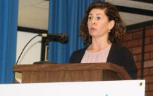 GECDSB Trustee Jessica Sartori attends a meeting put on by the Downtown Residents Association in Windsor on October 6, 2016 regarding the possible closure of core area schools. (Photo by Ricardo Veneza)