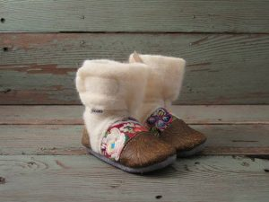 Booties created by Kingsville's Ruthy Penner and her company Nooks Design. (Photo courtesy Cathie Penner)