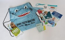 Oral health kits prepared by the Essex County Dental Society, the Windsor-Essex County Health Unit and the City of Windsor are to be distributed to new mothers to promote dental health among babies and toddlers. (Photo courtesy WECHU)