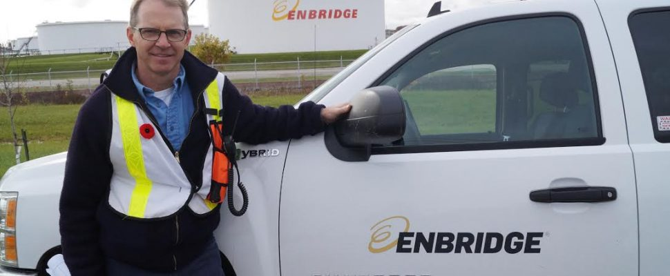 Enbridge Manager of Area Operations Terry McNally at Sarnia Area Disaster Simulation. November 3, 2016 BlackburnNews.com photo by Melanie Irwin