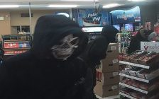 Photo of masked robbery suspects provided by London police.