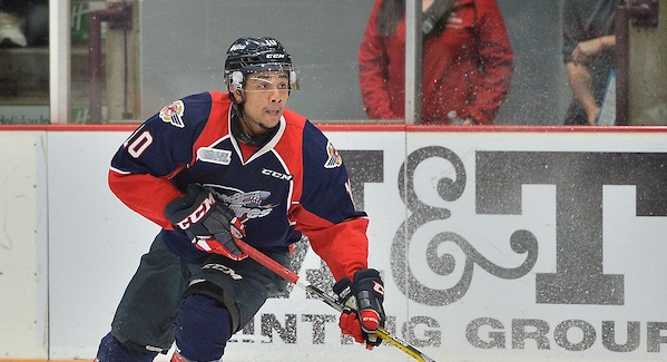 Jeremiah Addison of the Windsor Spitfires. (Photo courtesy of Terry Wilson via OHL Images)