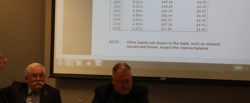 The council for the County of Essex discusses the proposed 2017 budget for the Essex-Windsor Solid Waste Authority at its regular meeting on December 7, 2016. (Photo by Ricardo Veneza)