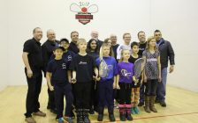Leamington hosting the 2017 Racquetball Canada Junior National Championships, December 14, 2016. (Photo by Maureen Revait)