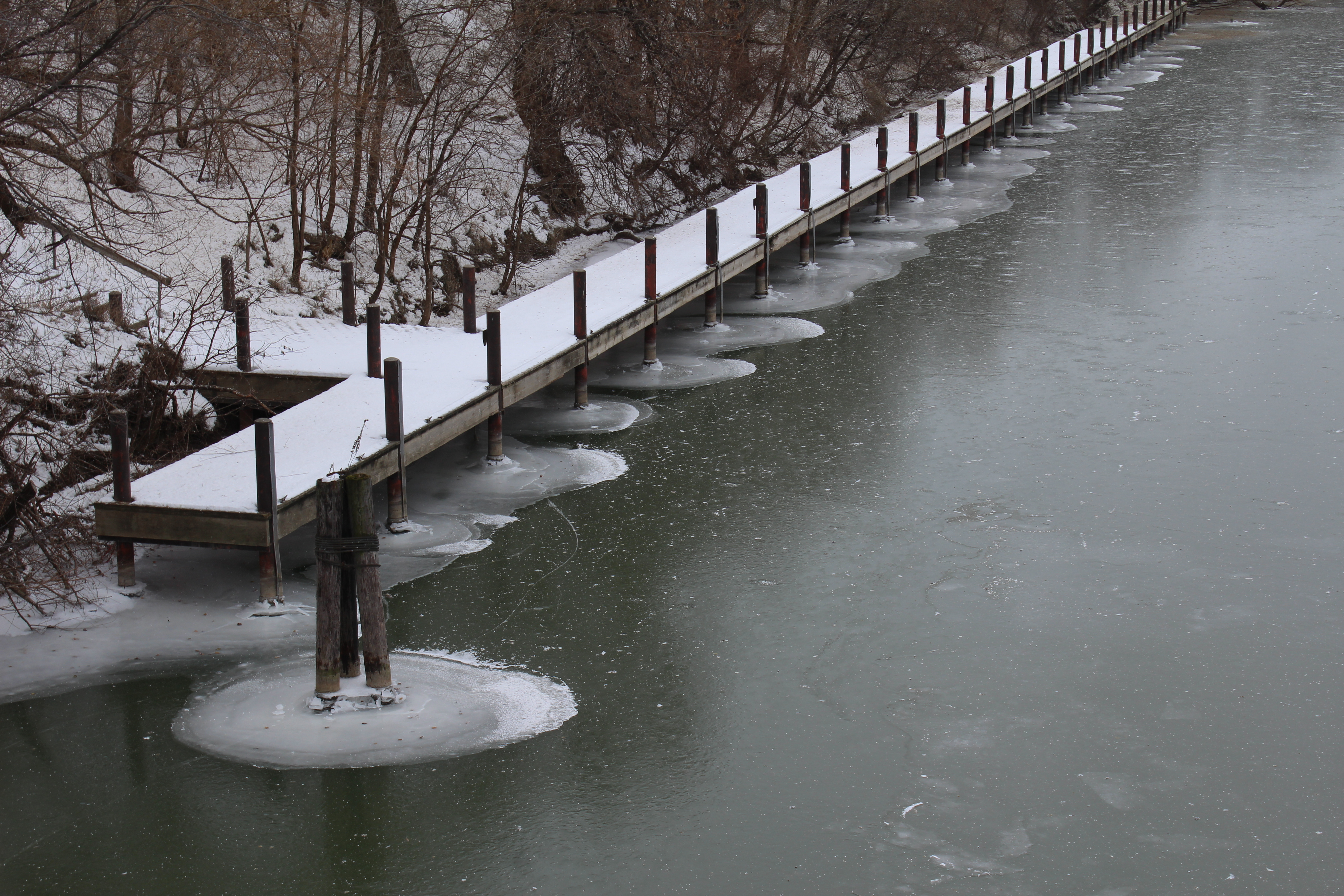 Thames River in Chatham. December 16, 2016. (Photo by Matt Weverink)