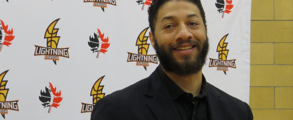 Former NBA draft pick, Royce White joins the London Lightning, December 8, 2016. (Photo by Miranda Chant, Blackburn News.)
