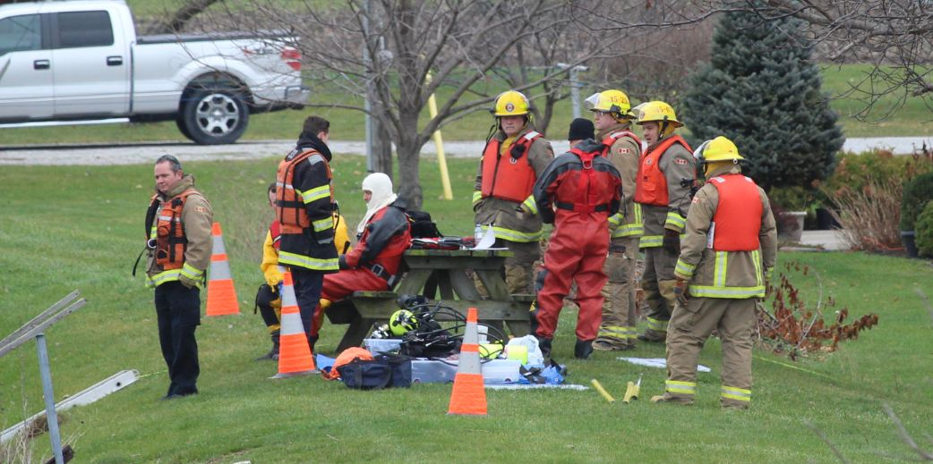 Dive Team Searching Thames River Near Chatham