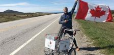 Joe Roberts Pushes a Cart Across Canada For Homelessness Awareness - Dec 1/16 (Photo Courtesy of Push For Change)