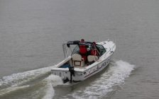 A Chatham-Kent police boat. (Photo by Matt Weverink)