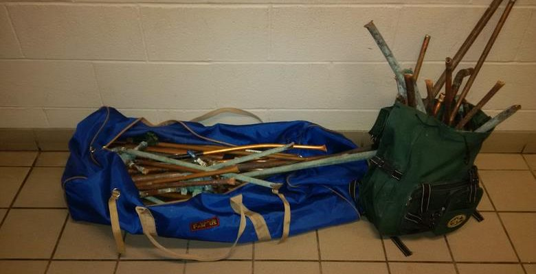 Copper piping that was seized by police following a break and enter at the former Sarnia General Hospital. (Photo courtesy of the Sarnia Police Service)
