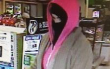 A suspect in a robbery at the 7-Eleven on Ottawa St. in Windsor, Jan 9, 2017. (Photo courtesy the Windsor Police Service)