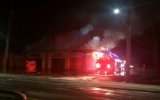Fire at a business on St. Clair St. in Chatham. January 15, 2017. Photo courtesy Chatham-Kent Fire and Emergency Services.