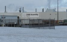 CAMI Assembly Plant in Ingersoll file photo. (Photo by Miranda Chant, Blackburn News.)