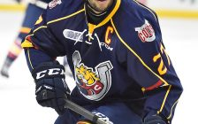 Cordell James of the Barrie Colts. Photo by Aaron Bell/OHL Images