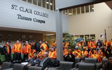 St Clair College gets energy education money from government, January 9, 2017. (Photo by Paul Pedro)