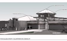 A conceptual drawing of The Beach House, planned for the foot of Green Street at the Port Elgin beach.