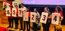 Western University announces its donation to the United Way, January 18, 2017. Photo from @westernu on Twitter.