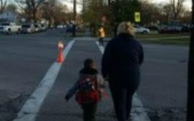 School Crossing. Photo submitted by Sarnia Police Service.