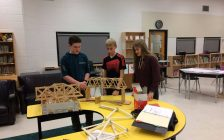 Students building bridges at Gregory Drive Public School. January 18, 2017. (Photo by Paul Pedro)