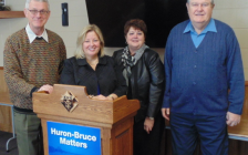 Photo: Harold Smith, MPP Lisa Thompson, Janet Haines, George Thorburn