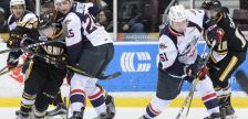 The Sarnia Sting take on the Windsor Spitfires, January 13, 2017. (Photo courtesy of Metcalfe Photography)