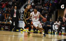 The Windsor Express take on the London Lightning, January 18, 2017. (Photo courtesy of the Windsor Express)