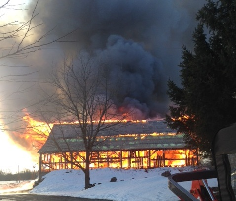 Grey Highlands Barn Lost In Fire