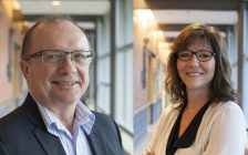 Jerome Quenneville, CKHA vice president and chief financial officer, and Lisa Northcott, CKHA vice president & chief nursing executive. (Photo courtesy of the Chatham-Kent Health Alliance)
