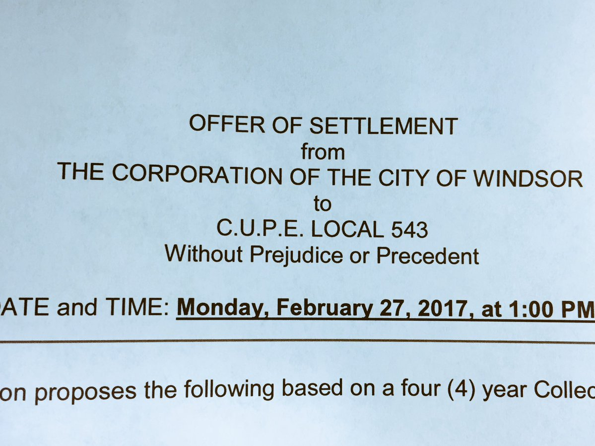City of Windsor Inside Workers Ratify Four-Year Deal